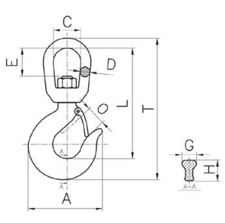 CARBON STEEL SWIVEL HOOK WITH BEARING